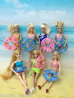 3pc set girls toy doll BARBIE dress swimming COSTUME BEACH outfits dresses BC5