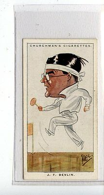 (Jc6721-100)  CHURCHMANS,MEN OF THE MOMENT IN SPORT,J.F.DEVLIN,1928,#7