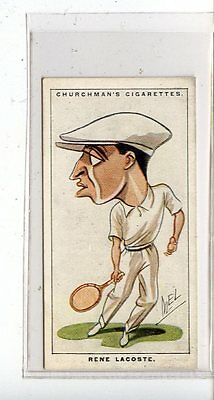 (Jc6781-100)  CHURCHMANS,MEN OF THE MOMENT IN SPORT,RENE LACOSTE,1928,#40