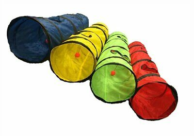 New OMNI Kitty Cat Play Tunnel Pet Toy - Four Exit Holes - 4 Feet Long
