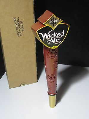 NEW Pete's Wicked AleTall Beer Tap Handle bar keg Brewery Man Cave Game Room lot