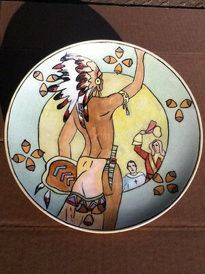 Awesome Nippon Noritake Native Indian 1932 hand-painted collector's plate