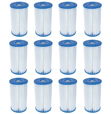 12 Bestway Type IV / B Filter Cartridges for 2500 GPH Above Ground Pool Filters