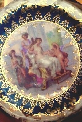 Antique Victoria Carlsbad Hand Painted Plate 24ct Gold Kaufmann Austria 1891
