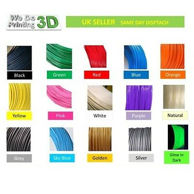 3D Imprimante Filament Pla 1.75mm,20 + Colours - 100m 50m 20m 10m Longueurs -