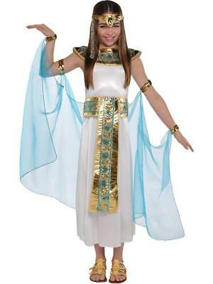 Girls Cleopatra Costume Child Egyptian Queen Toga Fancy Dress Outfit Age 4-12