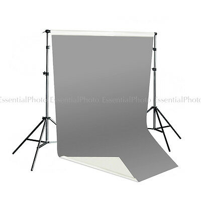 Pixapro 2x4m Dual Sided Grey/White Vinyl Backdrop & Telescopic Background Stand