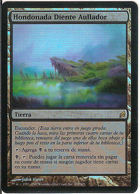 mtg Magic 1x Howltooth Hollow ( Hondonada Diente Aullador ) FOIL Spanish GOOD+