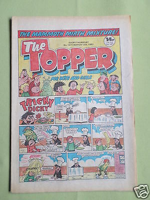 The Topper - Uk Comic - 12 Mar 1983  - # 1571 - Vg