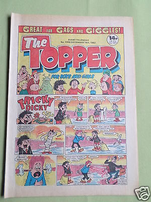 The Topper - Uk Comic - 18 Dec 1982  - # 1559 - Vg