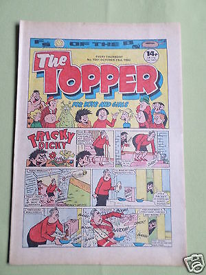 The Topper - Uk Comic - 23 Oct 1982 - # 1551 - Vg