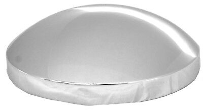 """hub caps(4) rear 8-9/16"""" I.D. dome chrome plated metal for Mack 4400 rear end"""