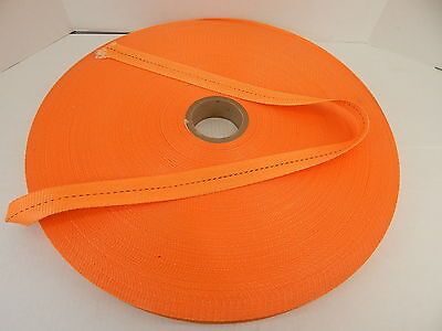 """2400' Polyester Woven Strapping 1-1/2"""" Wide Mw Strapping Id 2060 Orange"""