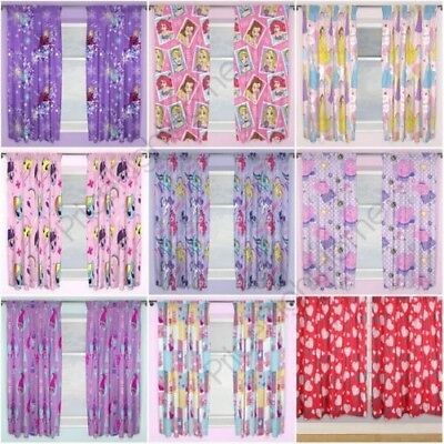 """Girls Character Curtains Disney Frozen, Peppa Pig, Pony + More 54"""" & 72"""""""