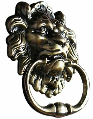 UniDecor Classic Antique Bronze Lion Door Knocker Lion Head Home Garden