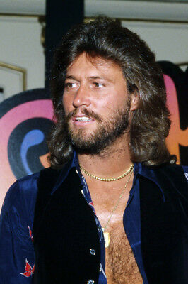 The Bee Gees 24X36 Poster Barry Gibb Open Shirt Bare Chest Classic