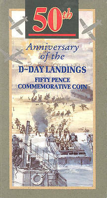 1994 50p; brilliant uncirculated; D-Day Anniversary; gatefold sleeve