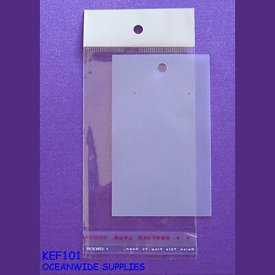 200 Blank Frost Plastic Earring Jewellery Card + 200 Cello Bag | AUSSIE Seller