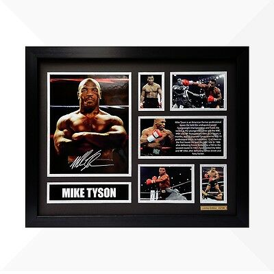 Mike Tyson Signed & Framed Memorabilia - Black/Silver Limited Edition
