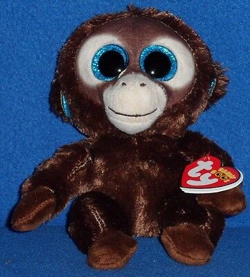 "TY BEANIE BOOS - OLGA the 6"" MONKEY - EUROPEAN EXCLUSIVE - MINT with MINT TAG"