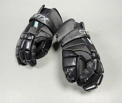 NEW STX Lacrosse Gloves K18 Kyle Harrison Lax Black Retail $99.99