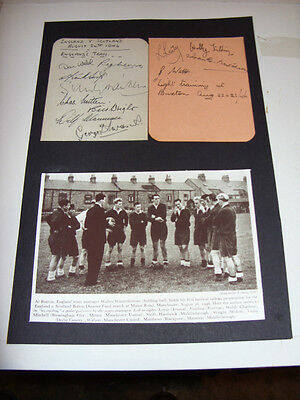 England V Scotland 1946 Original Signed Pages Aftal