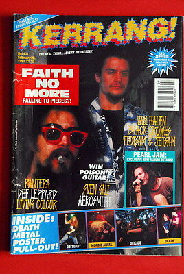 Faith No More Cover Morbid Angel/deicide/obituary/death  Poster 1993 Uk Magazine