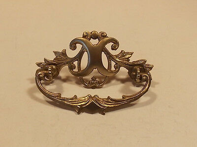 One Vintage Ornate Brass pull