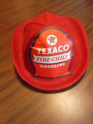 Texaco Gasoline, Fire Chief Helmet . Felt Fire Helmet