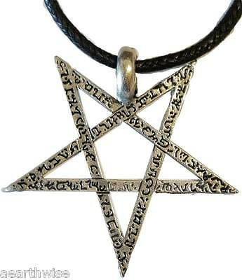 INVERTED PENTAGRAM AMULET PENDANT 28 mm Wicca Pagan Witch Goth Punk Occult