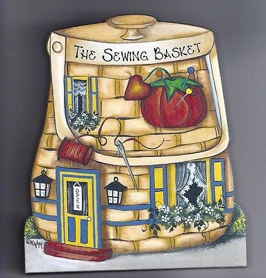 Brandywine Collectibles BASKET VALLEY Houses & Shops THE SEWING BASKET