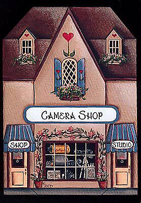 Brandywine Collectible Houses: CAMERA SHOP - Wooden Shelf Sitter