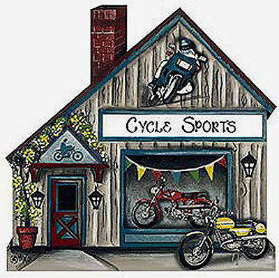 Brandywine Collectible Houses & Shops: CYCLE SPORTS Motorcycles Dirt Bikes