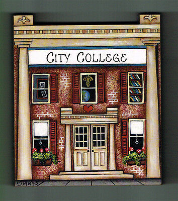 Brandywine Collectible Houses & Shops: CITY COLLEGE - Wooden Shelf Sitter