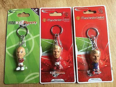 David Beckham X 3 Corinthian Key Ring Collection Manchester United