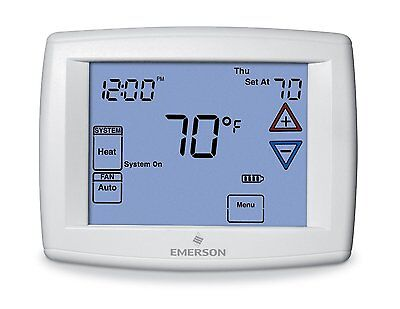 White Rodgers 1F95-1277 Programmable Big Blue Digital Touchscreen Thermostat