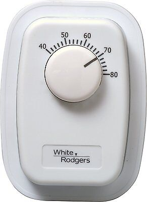 White Rodgers 1G66-641 Line Voltage Mechanical Bimetal, SPST, Open on Rise