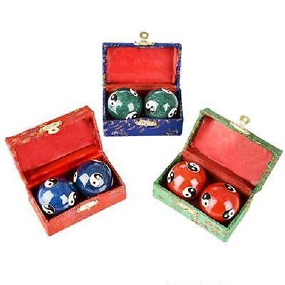 Ying Yang Chinese Baoding Chimes Health Stress Relief Therapy Balls #Aa52