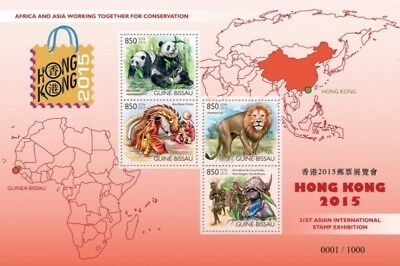 Guinea-Bissau - 2015 Asian Int'l Stamp Expo - 4 Stamp Sheet - GB15810a