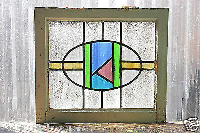 Antique Stained Glass Window Five Colors Craftsman Style Design           (2952)