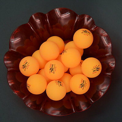 50Pcs DOUBLE FISH 3-Stars 40mm Olympic Table Tennis Balls Orange Ping Pong Ball