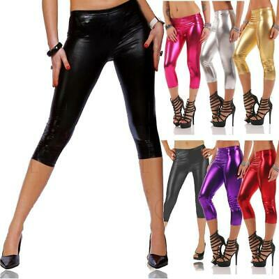 3/4 Leggings Capri Wet-Look Glanz Matt viele Farben, Gr. S M L XL XXL 3XL, p950