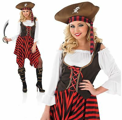 Ladies Sexy Caribbean Pirate Buccaneer Fancy Dress Party Costume Book Day Week  sc 1 st  PicClick UK & CA676 LADIES BUCCANEER Pirate Caribbean Party Swashbuckler Book Week ...