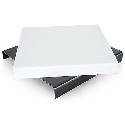 "Neewer 9.4""x 9.4"" Acrylic Reflective Riser Display Table Black and White"