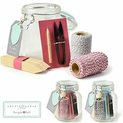 *burgon And Ball Sophie Conran Garden Gardeners Mason Jar Set Tools Twine Gift*