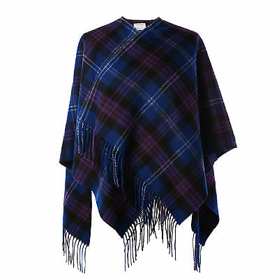 EDINBURGH 100% Lambswool Girls & Ladies Cape Tartan Heritage of Scotland