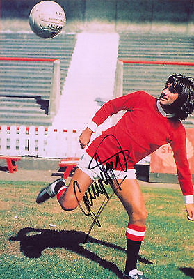 George Best Signed PP Autograph Print Hologram Cert Football Manchester United