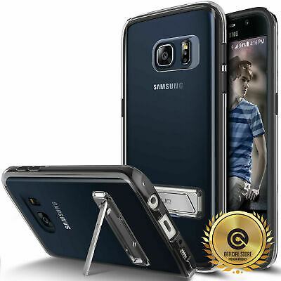 OBLIQ Naked Shield Protection Clear Case Metal Kickstand Cover for [Galaxy S7]