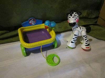 Fisher Price Baby Amazing Animals Zebra Train Add On Piece Toy Part Parrot