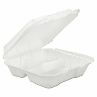 GEN Takeout Foam Clamshell Food Containers - GENHINGEDL3